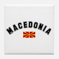 Macedonian Flag Tile Coaster