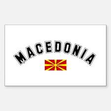 Macedonian Flag Rectangle Decal
