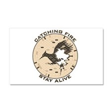 Catching Fire Brick Wall Stay Alive Car Magnet 20