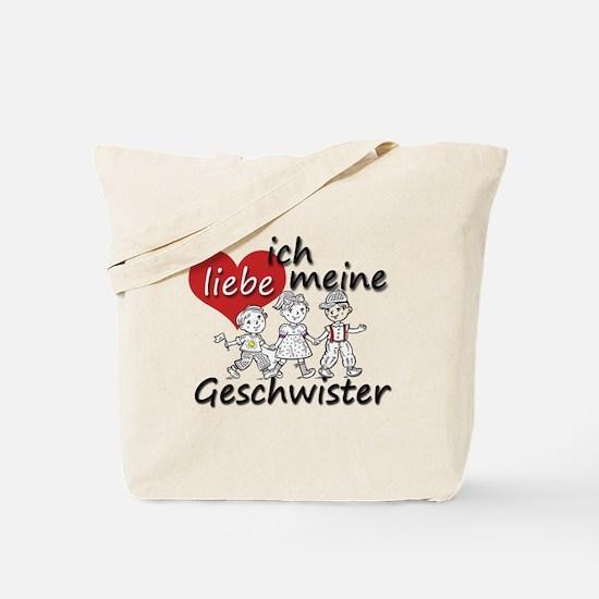 Ich liebe meine Geschwister is German for I love m