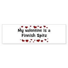 Finnish Spitz valentine Bumper Bumper Sticker