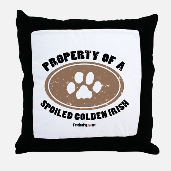 Golden Irish dog Throw Pillow