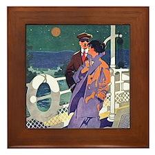 Art Deco Cruise Framed Tile
