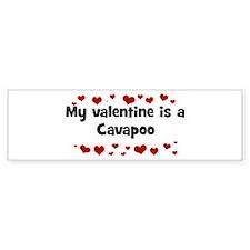 Cavapoo valentine Bumper Bumper Sticker