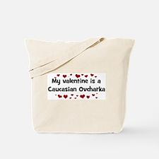 Caucasian Ovcharka valentine Tote Bag