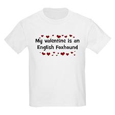 English Foxhound valentine Kids T-Shirt