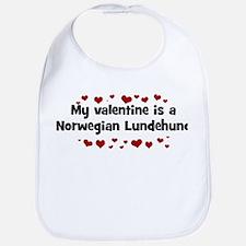 Norwegian Lundehund valentine Bib