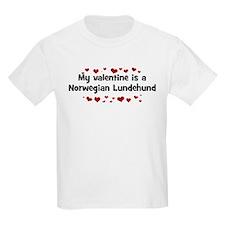 Norwegian Lundehund valentine Kids T-Shirt