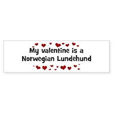 Norwegian Lundehund valentine Bumper Bumper Sticker