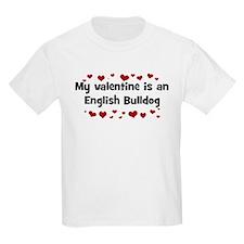 English Bulldog valentine Kids T-Shirt