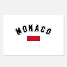 Monaco Flag Postcards (Package of 8)