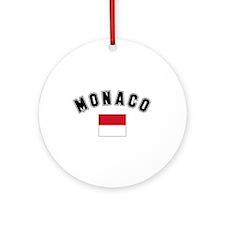Monaco Flag Ornament (Round)