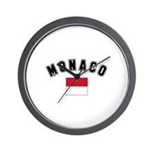 Monaco Flag Wall Clock