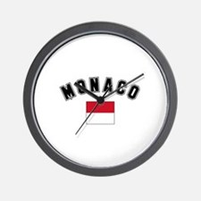 Monaco Flag Wall Clock