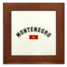 Montenegro Flag Framed Tile