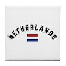 Netherlands Flag Tile Coaster
