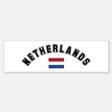 Netherlands Flag Bumper Bumper Bumper Sticker