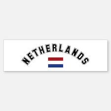 Netherlands Flag Bumper Car Car Sticker