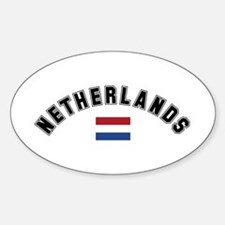 Netherlands Flag Oval Decal