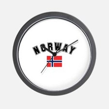 Norwegian Flag Wall Clock