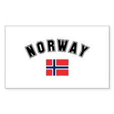 Norwegian Flag Rectangle Decal