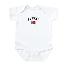 Norwegian Flag Infant Bodysuit