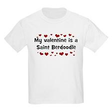 Saint Berdoodle valentine Kids T-Shirt