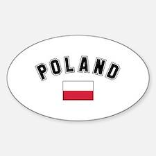 Polish Flag Oval Decal