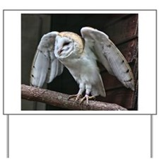 Barn Owl about to fly. Yard Sign