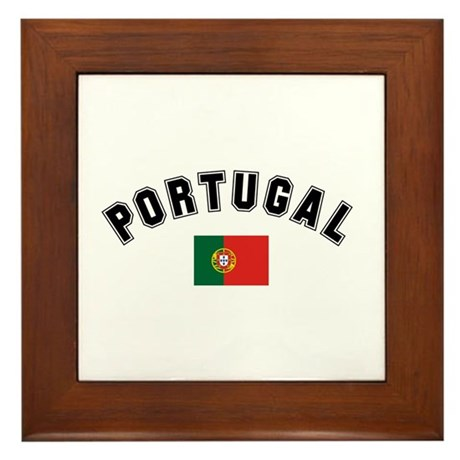 Portuguese Flag Framed Tile