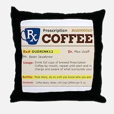 Prescription Coffee Throw Pillow