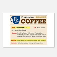 Prescription Coffee Postcards (Package of 8)