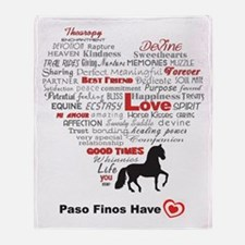 Paso Finos Have Heart Throw Blanket