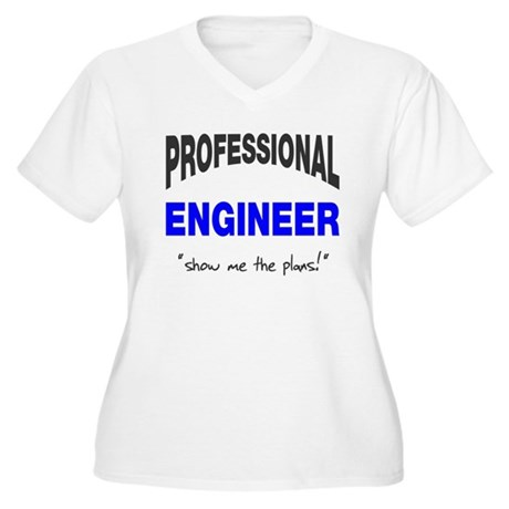 Professional Engineer Women's Plus Size V-Neck T-S