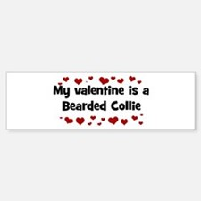 Bearded Collie valentine Bumper Bumper Bumper Sticker