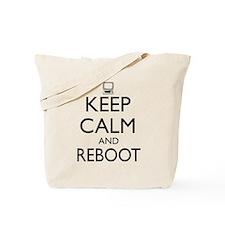 Keep calm and reboot Tote Bag