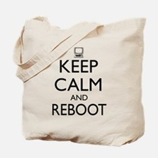 Keep calm and reboot Tote Bag