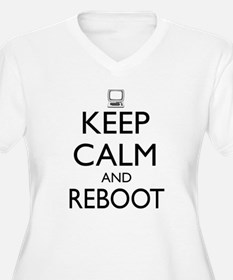 Keep calm and reboot Plus Size T-Shirt