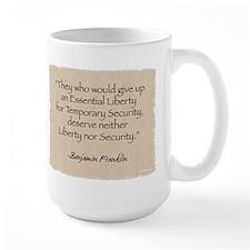Large Mug: Liberty-Franklin