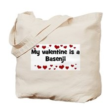 Basenji valentine Tote Bag