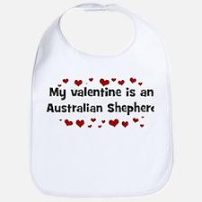 Australian Shepherd valentine Bib