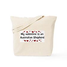 Australian Shepherd valentine Tote Bag