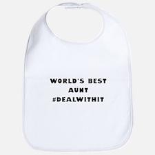 World's Best Aunt (Hashtag) Bib