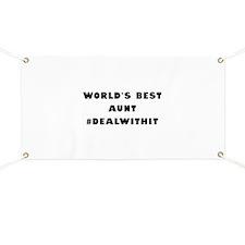 World's Best Aunt (Hashtag) Banner