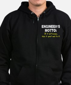 Engineer's Motto Zip Hoodie (dark)