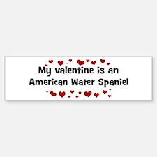 American Water Spaniel valent Bumper Bumper Bumper Sticker