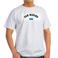 San Marino Flag Ash Grey T-Shirt