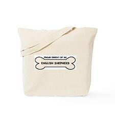 Proud Parent: ENGLISH SHEPHER Tote Bag