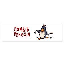 Zombie Penguin Bumper Bumper Sticker