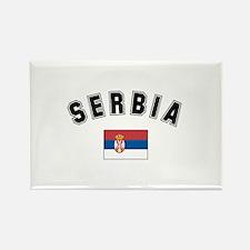 Serbian Flag Rectangle Magnet